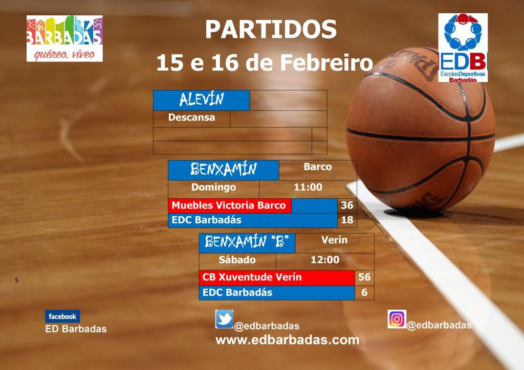cartel partidos baloncesto fin de semana 2019-2020