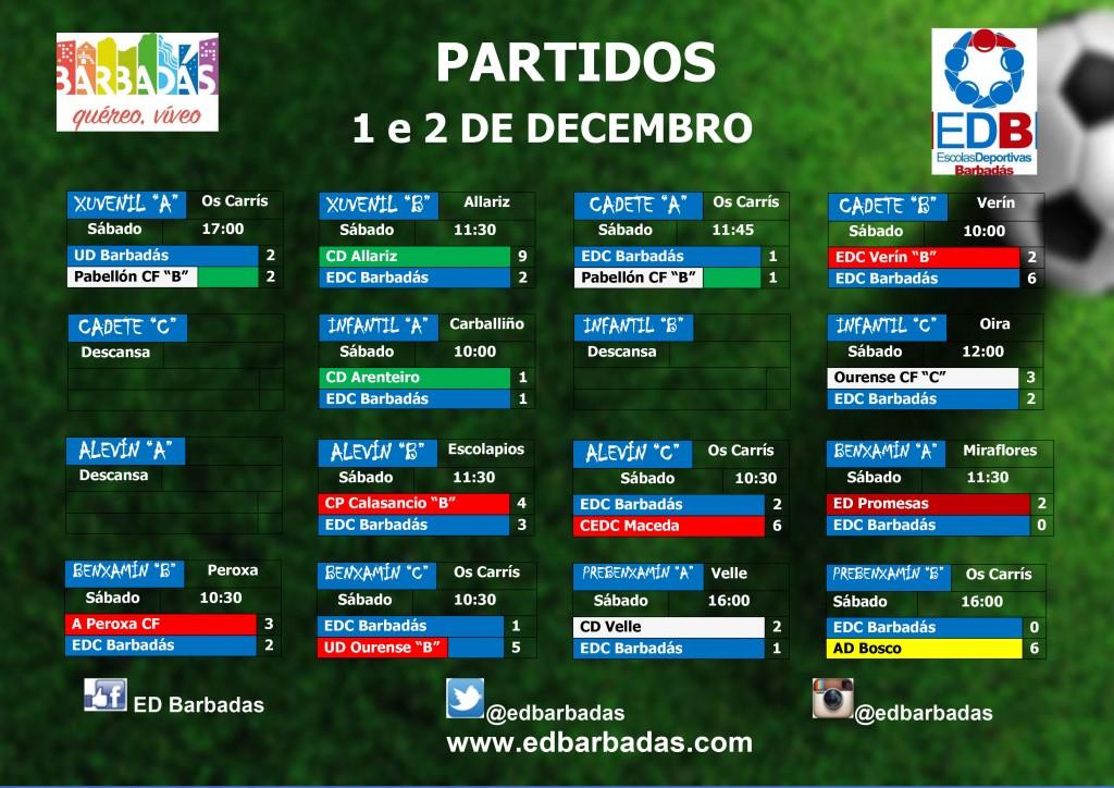 cartel partidos fútbol fin de semana 2018-2019
