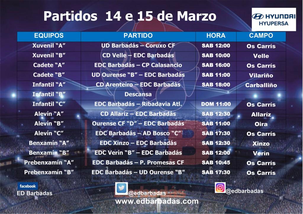 cartel partidos fútbol fin de semana 2019-2020