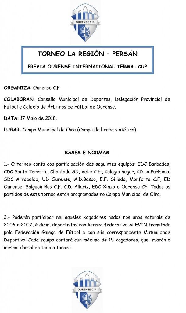 Bases y normas Torneo LA REGIÓN - PERSAN (1)-1
